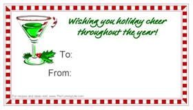 holiday cheer gift tag