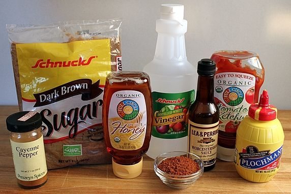 ingredients for 3 Barbecue Sauce Recipes--Sweet, Spicy, & Smoky