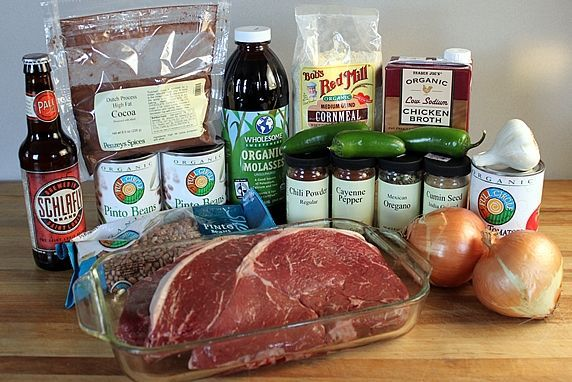 ingredients for Thick & Hearty Steak Chili