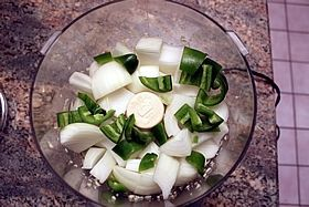 onions peppers