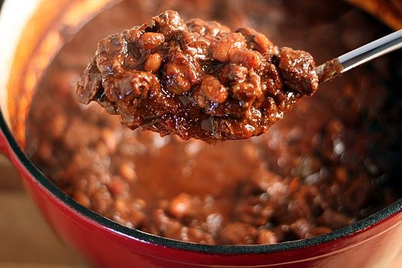 spoonful of Thick & Hearty Steak Chili