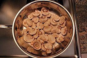 mush in pan