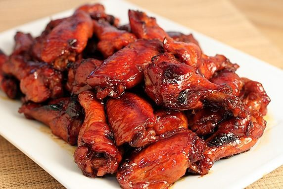 wings on platter