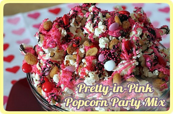 Pink Popcorn Party Mix