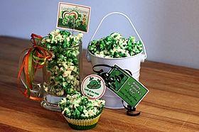 green popcorn gifts