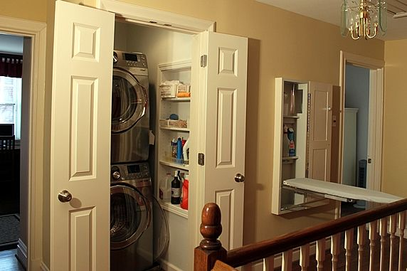 Hallway Laundry Closet And Ironing Center A Solution For Small Es Www