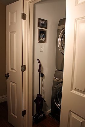Hallway Laundry Closet And Ironing Center  A Solution For Small Spaces. Www.