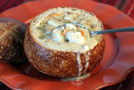 in bread bowl