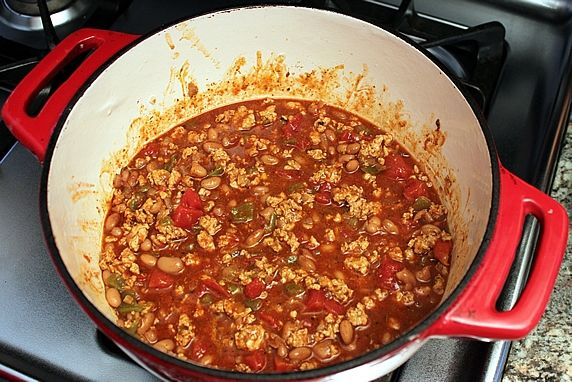 finished chili