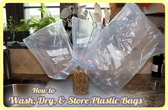 Wash,Dry,Store Plastic Bags