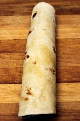 white rolled tortilla