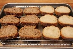bread on tray