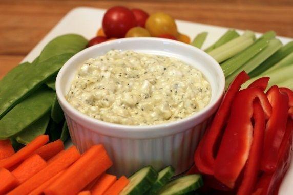 veggie dip closeup