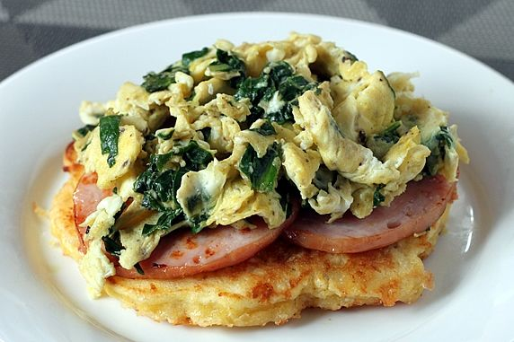 Corn Cake Breakfast Stack