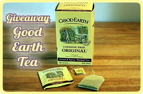 Givewaway-Good Earth Tea