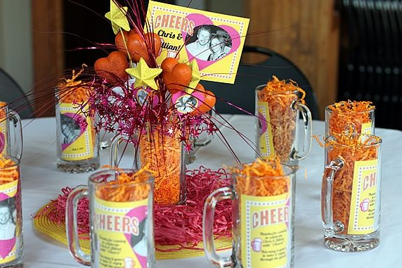 Diy wedding rehearsal dinner centerpieces for Dinner party gift ideas
