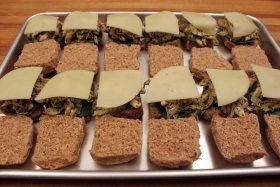 cheese buns half
