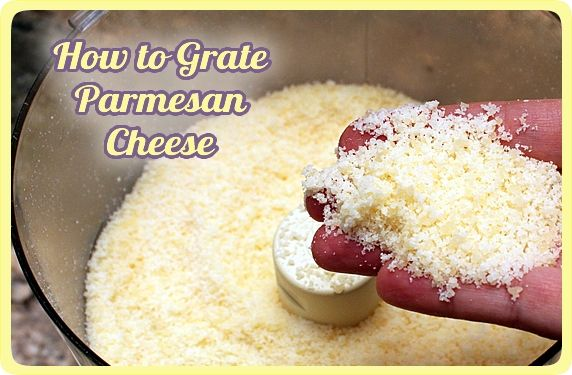 How To Grate Parmesan In A Food Processor