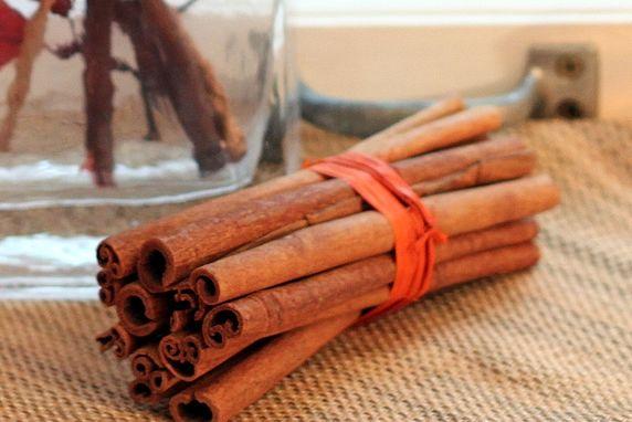 Fall decorating with cinnamon sticks