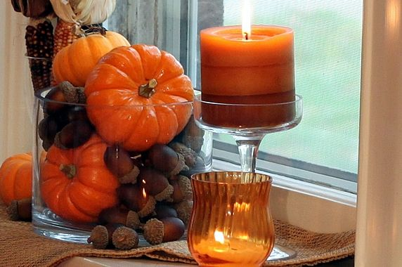 Easy Fall Decor Using Natural Inexpensive Grocery Supplies Www Theyummylife