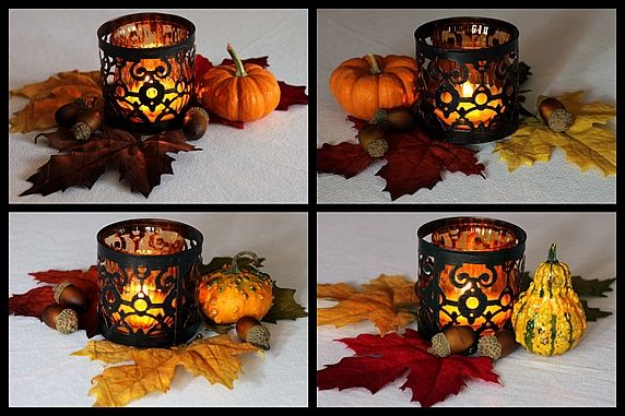 Fall decorating ideas with candles