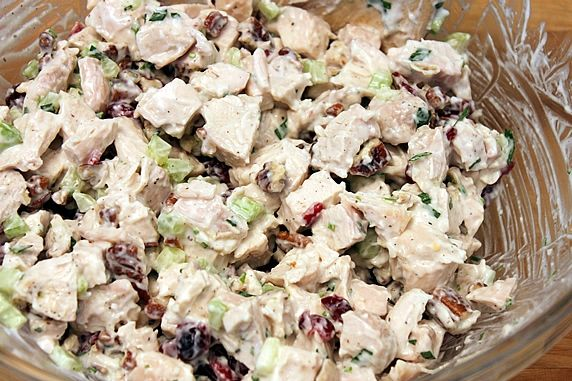 Chicken Or Turkey Salad With Cranberries Amp Pecans A Healthy Recipe With Yogurt