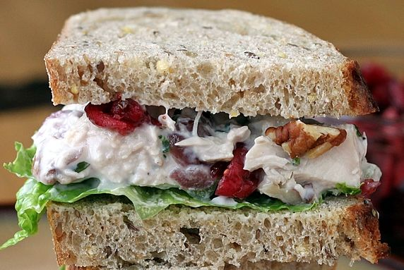 Chicken or Turkey Salad with Cranberries and Pecans