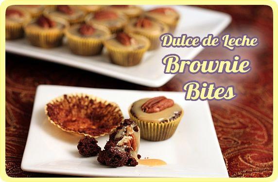 Dulce de Leche Brownie Bites