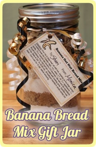 Banana Bread Mix Gift Jar