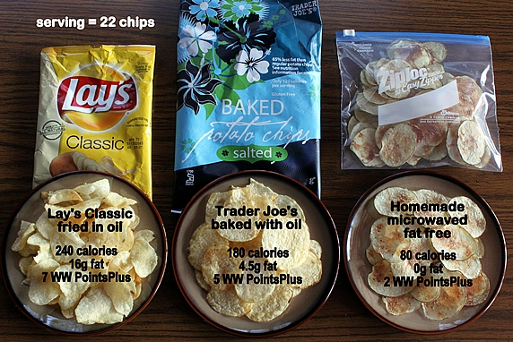 Image Gallery Low Calorie Potato Chips