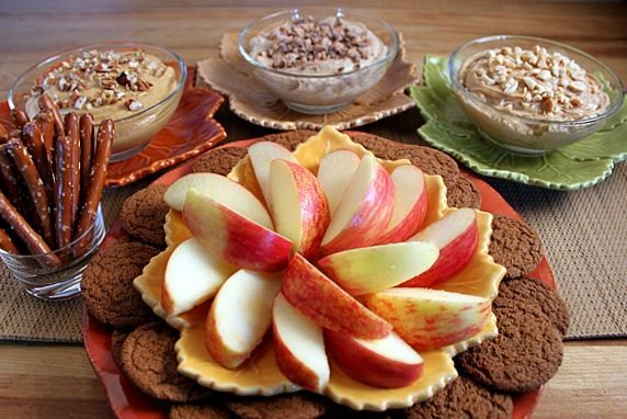dips with apples