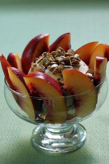 nectarine sundae