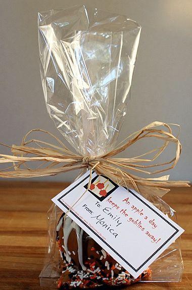 Caramel apple bags