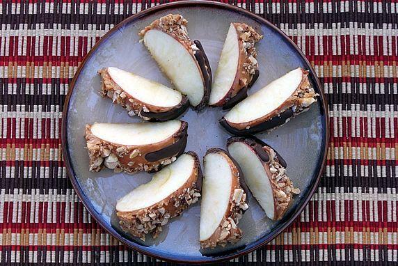 apple slices on plate