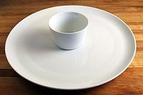 bowl on platter