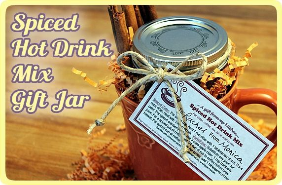 Spiced Hot Drink Mix Jars
