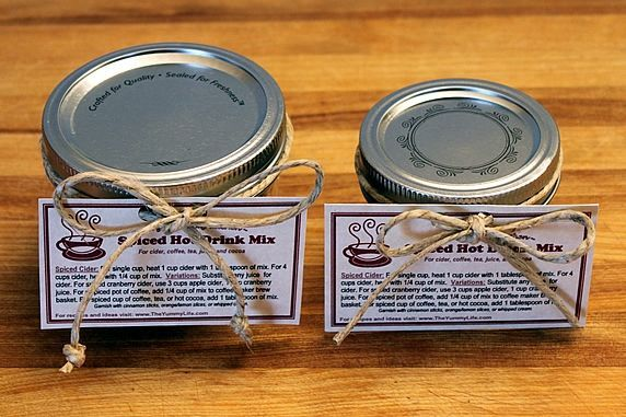 2 jars with tags