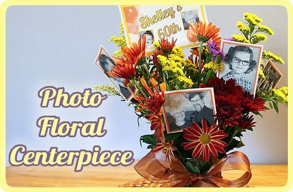 Make a photo floral centerpiece